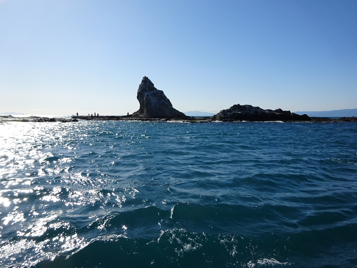 Eboshi rock from the sea